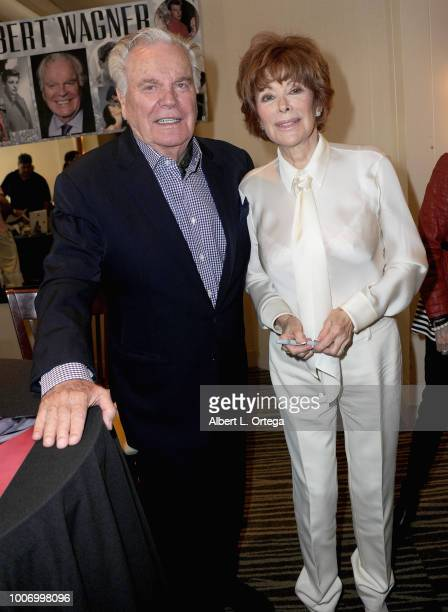 Actor Robert Wagner and actress Jill St. John attend The Hollywood Show held at The Westin Hotel LAX on July 28, 2018 in Los Angeles, California.