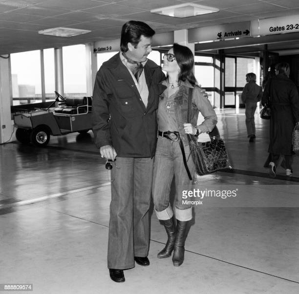 Actor Robert Wagner and actress wife Natalie Wood arriving in London en route for the South of France for a short holiday before returning to London...