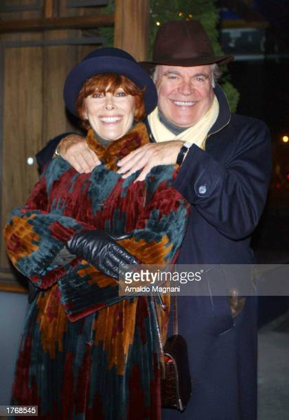 Actor Robert Wagner and his wife Actress Jill St John stand outside of Nello's restaraunt January 25 2003 in New York City