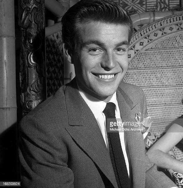 Actor Robert Wagner at the Hollywood Press Club on Octoer 26 1953 in Los Angeles California