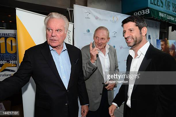 Actor Robert Wagner director Simon Wincer and Harli Ames director Simon Wincer and Harli Ames arrive at Australians In Film Screening and USA...
