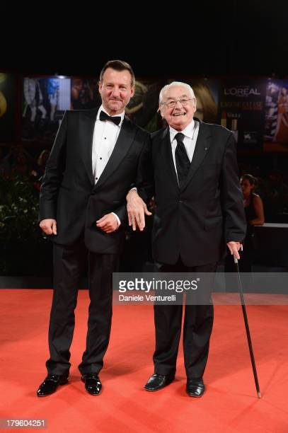 Actor Robert Wieckiewicz and director Andrzej Wajda attend Walesa Man of Hope premiere and Premio Persol Ceremony during the 70th Venice...