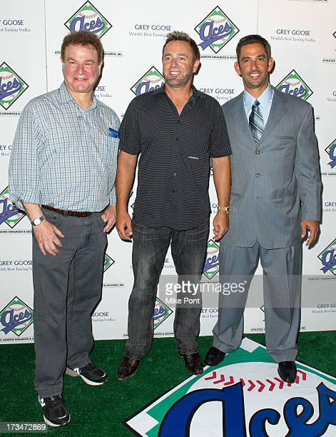 Actor Robert Wuhl MLB Network Analyst Kevin Millar and Former New York Yankee Jorge Posada attend the ACES Annual All Star Party at Marquee on July...