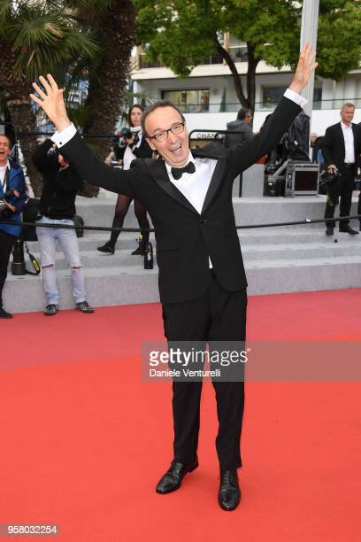 Actor Roberto Benigni attends the screening of Happy As Lazzaro during the 71st annual Cannes Film Festival at Palais des Festivals on May 13 2018 in...