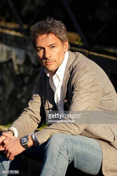 Actor Roberto Farnesi starring in the third season of Le tre rose di Eva in Villa Borghese Rome Italy 3rd March 2015