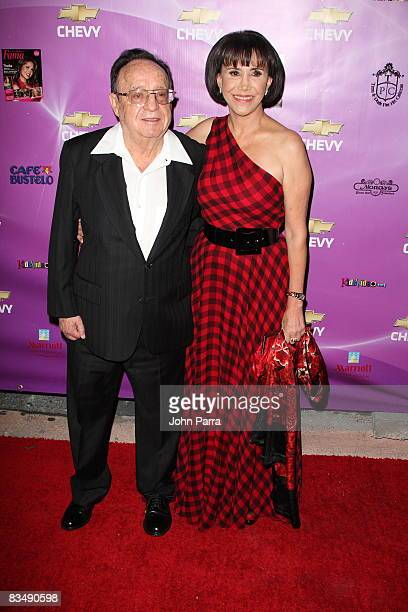 Actor Roberto Gomez Bolanos and Actress Florinda Mesa pose at the 2008 Premio FAMA Awards at Gusman Center for the Performing Arts on October 29 2008...
