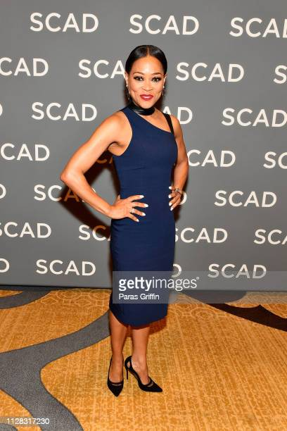 Actor Robin Givens attends the 'Wonder Women Acting For Television' press junket during SCAD aTVfest 2019 at Four Seasons Hotel on February 08 2019...