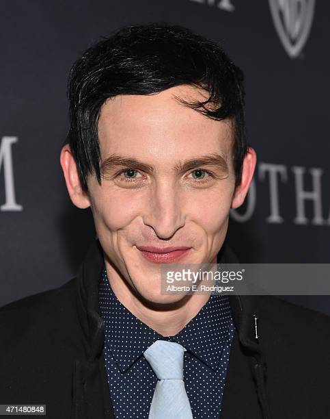 Actor Robin Lord Taylor attends Fox's 'Gotham' Season Finale Screening at Landmark Theatre on April 28 2015 in Los Angeles California