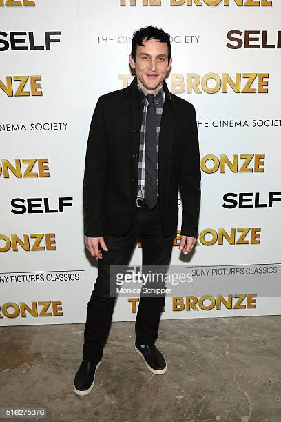 Actor Robin Lord Taylor attends The Cinema Society SELF host a screening of Sony Pictures Classics' The Bronze at Metrograph on March 17 2016 in New...