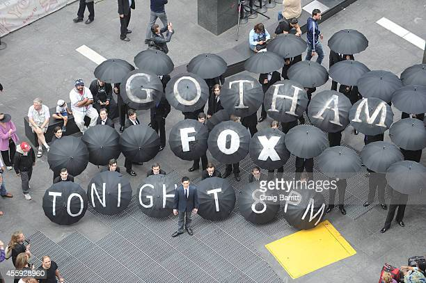 Actor Robin Lord Taylor attends the 'Gotham' Oswald Cobblepot New York City Takeover on September 22 2014 in New York City