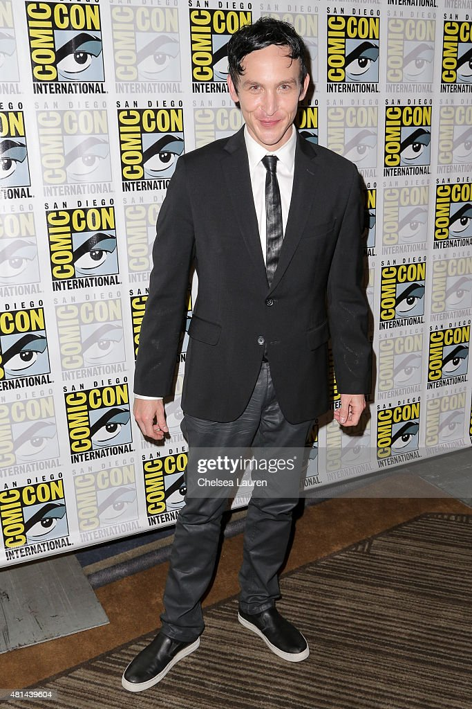 Actor Robin Lord Taylor attends the 'Gotham' press room on July 11, 2015 in San Diego, California.