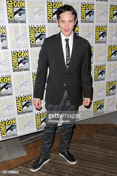 Actor Robin Lord Taylor attends the 'Gotham' press room on July 11 2015 in San Diego California