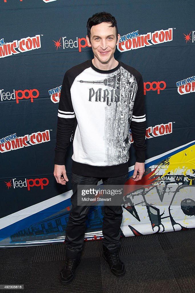Actor Robin Lord Taylor poses in the press room for the 'Gotham' panel during Comic-Con Day 4 at The Jacob K. Javits Convention Center on October 11, 2015 in New York City.
