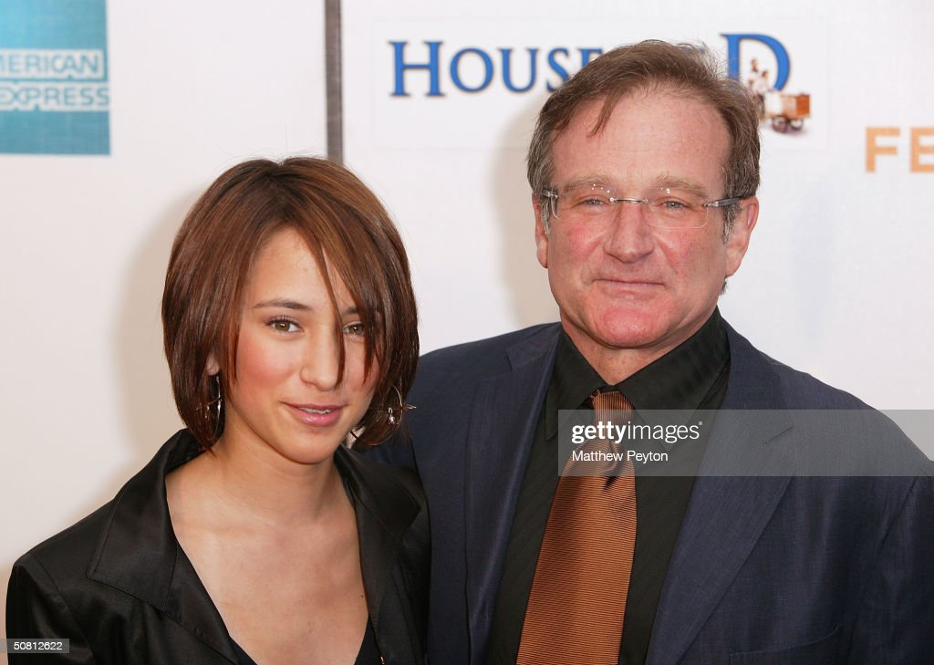 Actor Robin Williams and his daughter Zelda Williams arrive at the screening of 'House Of D' during the 2004 Tribeca Film Festival May 7, 2004 in New York City.