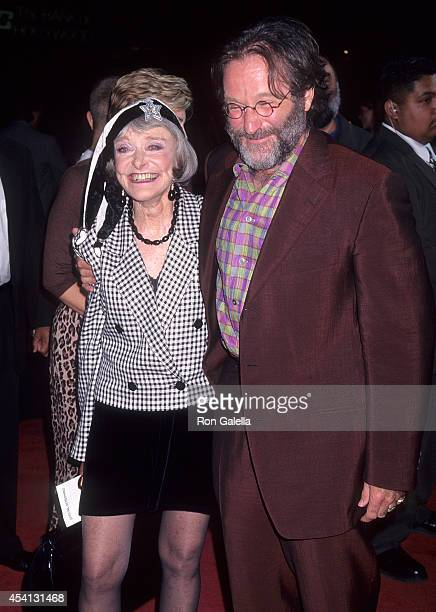 Actor Robin Williams and mother Laura McLaurin attend the Father's Day Hollywood Premiere on May 6 1997 at the Mann's Chinese Theatre in Hollywood...