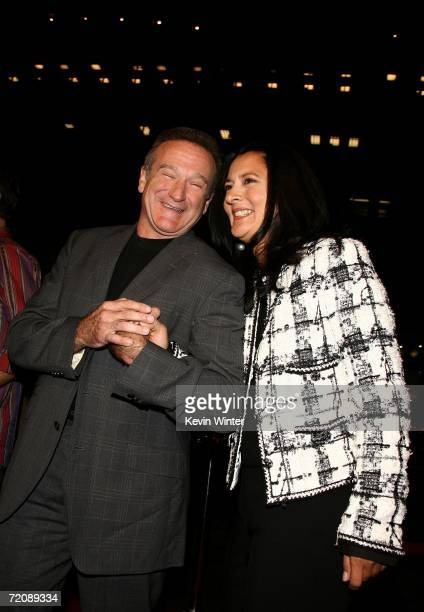 Actor Robin Williams and wife Marsha Garces Williams arrive at the premiere of Universal Pictures Man of the Year at Grauman's Chinese Theatre...