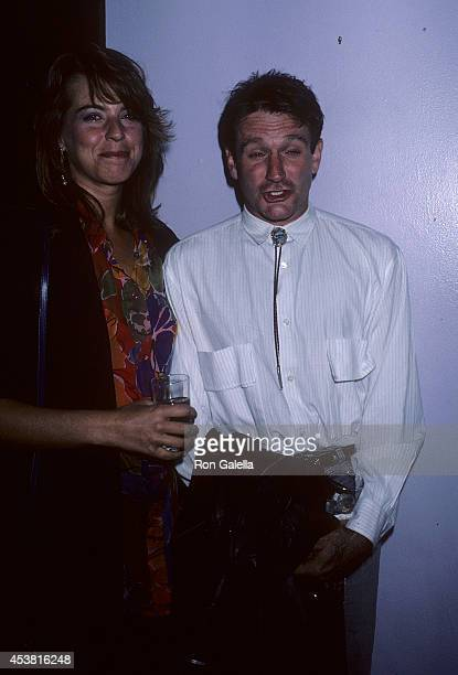Actor Robin Williams and wife Valerie attend Sting in Concert The Dream of the Blue Turtles Tour at Madison Square Garden After Party on September 30...