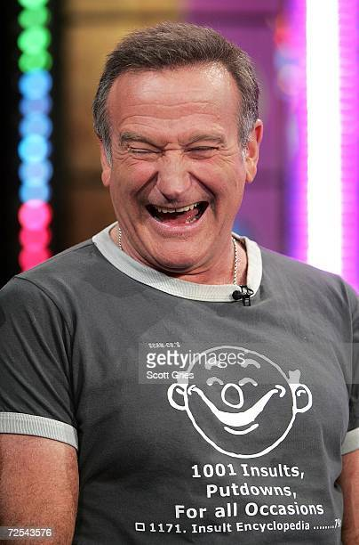 Actor Robin Williams appears onstage during MTV's Total Request Live at the MTV Times Square Studios on November 14, 2006 in New York City.