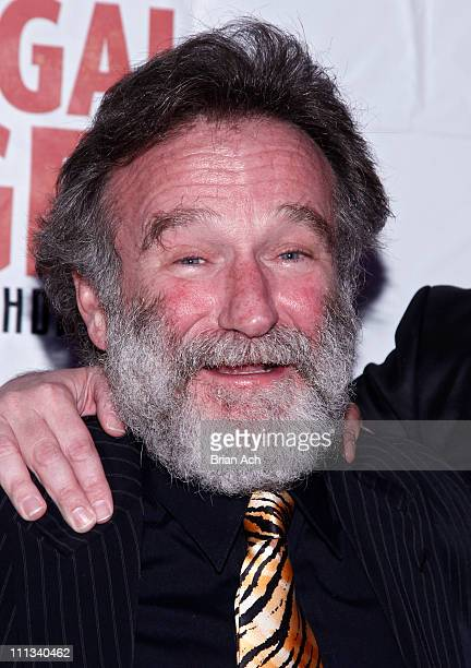 Actor Robin Williams attends the after party for opening night of Bengal Tiger At The Baghdad Zoo at Espace on March 31 2011 in New York City