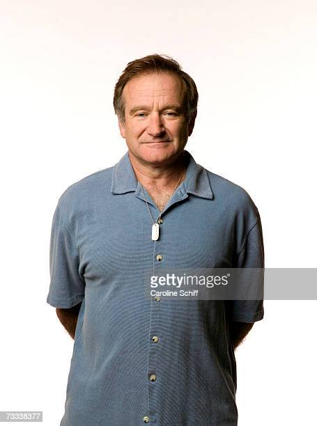 Actor Robin Williams in a promotional portrait for the Search for the Cause campaign, which raises funds for cancer research. He wears a Search for...