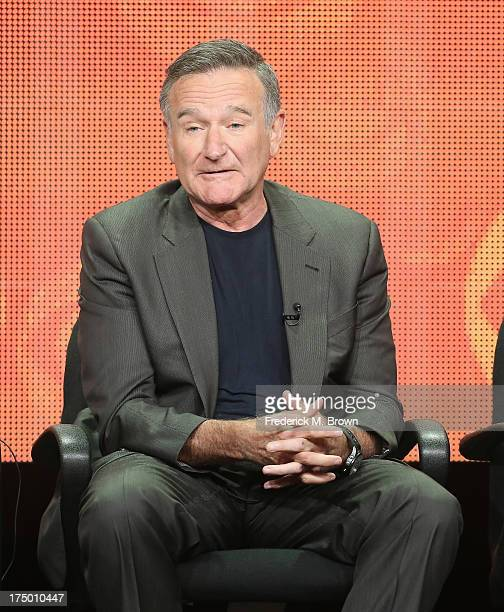 "Actor Robin Williams speaks onstage during ""The Crazy Ones"" panel discussion at the CBS, Showtime and The CW portion of the 2013 Summer Television..."