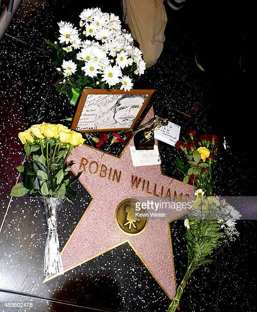 Actor Robin Williams' star is seen on the Hollywood Walk of Fame on August 11, 2014 in Los Angeles, California.