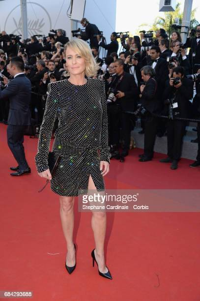 Actor Robin Wright attends the Ismael's Ghosts screening and Opening Gala during the 70th annual Cannes Film Festival at Palais des Festivals on May...