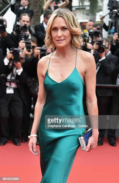 Actor Robin Wright attends the 'Loveless ' premiere during the 70th annual Cannes Film Festival at Palais des Festivals on May 18 2017 in Cannes...