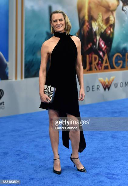 Actor Robin Wright attends the premiere of Warner Bros Pictures' Wonder Woman at the Pantages Theatre on May 25 2017 in Hollywood California