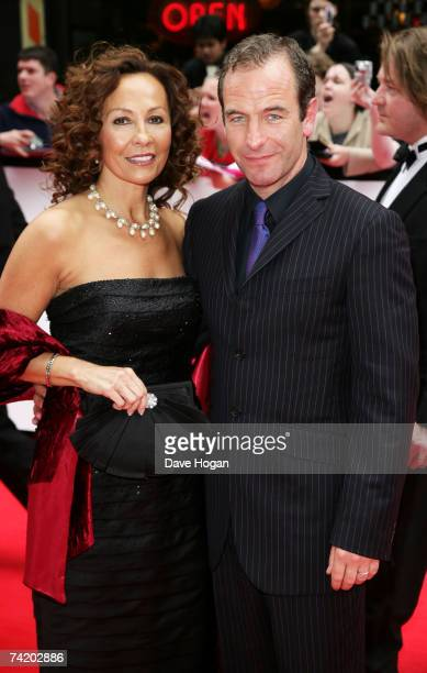 Actor Robson Green and his guest arrive at the British Academy Television Awards at the Palladium on May 20 2007 in London England