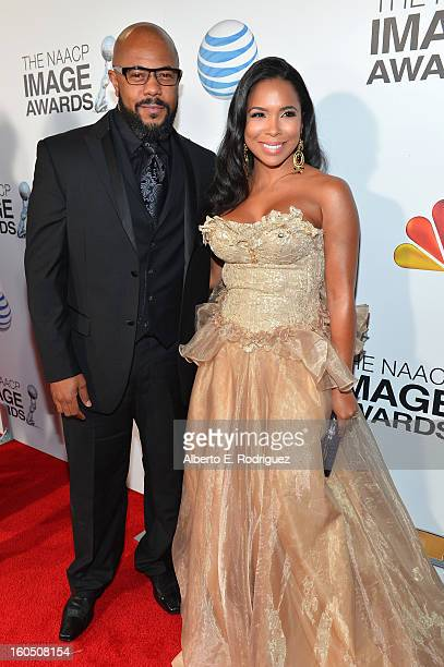 Actor Rockmond Dunbar and Maya Gilbert attend the 44th NAACP Image Awards at The Shrine Auditorium on February 1 2013 in Los Angeles California