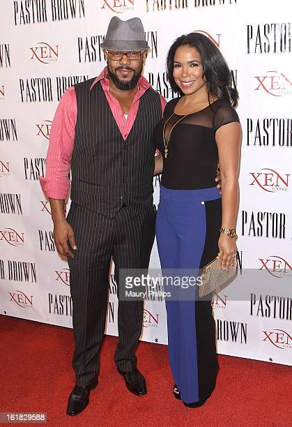Actor Rockmond Dunbar and Maya Gilbert attend the Pastor Brown premiere presented by Lifetime Television at Xen Lounge on February 16 2013 in Los...