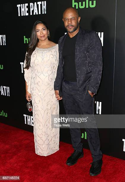 Actor Rockmond Dunbar and Maya Gilbert attend the premiere of Hulu's The Path Season 2 at Sundance Sunset Cinema on January 19 2017 in Los Angeles...