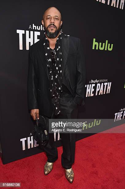 Actor Rockmond Dunbar arrives during the premiere of Hulu's 'The Path' at ArcLight Hollywood on March 21 2016 in Hollywood California