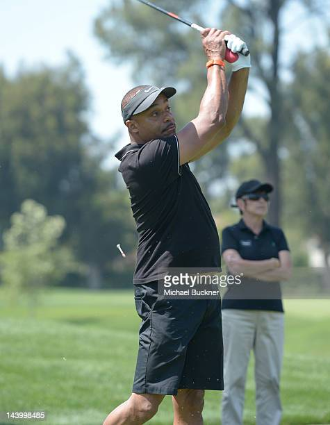 Actor Rocky Carroll attends the 5th Annual George Lopez Celebrity Golf Classic to Benefit The Lopez Foundation at Lakeside Golf Club on May 7 2012 in...