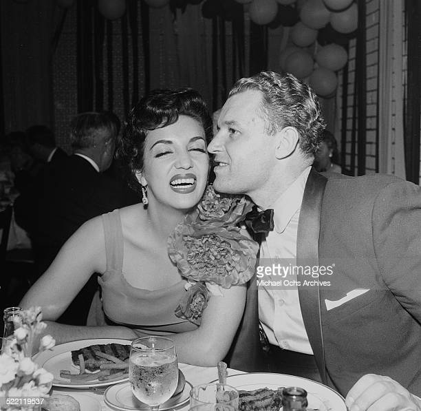 Actor Rod Steiger and actress Katy Jurado attend the Academy Awards in Los AngelesCA