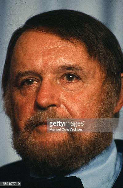 Actor Rod Steiger poses backstage during the 52nd Academy Awards at Dorothy Chandler Pavilion in Los AngelesCalifornia