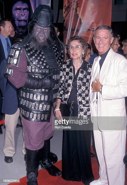 Actor Roddy McDowall and actress Kim Hunter attend the Planet of the Apes 30th Anniversary Screening on August 27 1998 at the Academy of Motion...