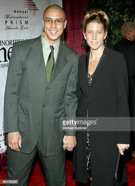 Actor Rodney Lopez and writer Amy Sewell arrive for the 10th Annual Multicultural Prism Awards at the Universal City Hilton Hotel on December 15 2005...
