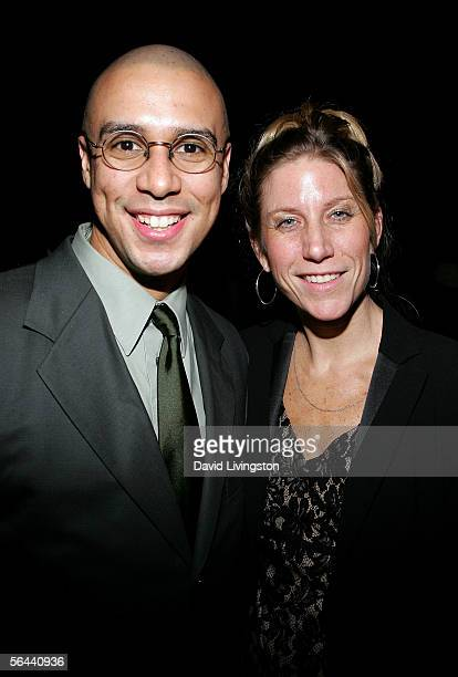 Actor Rodney Lopez and writet Amy Sewell pose for a photo during the 10th Annual Multiculural Prism Awards cocktail party at the Universal City...