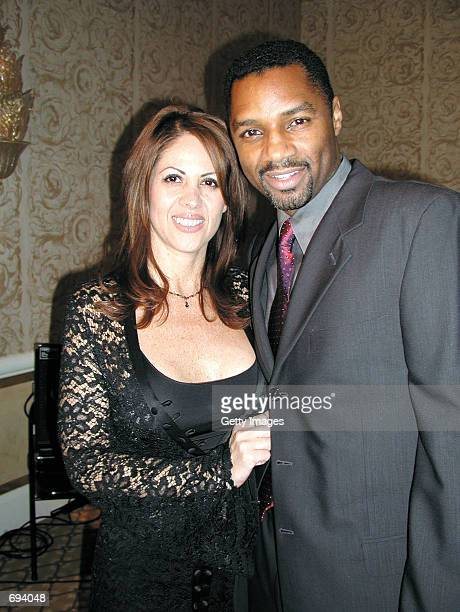 Actor Rodney Van Johnson poses with his wife Carmen at the TV Soap Golden Boomerang Awards at the Four Seasons Hotel January 18 2002 in Beverly Hills...