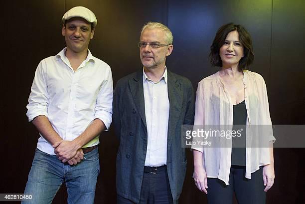 Actor Rodrigo de la Serna director Daniele Luchetti and actress Mercedes Moran attend a photocall and press conference to announce the start of...