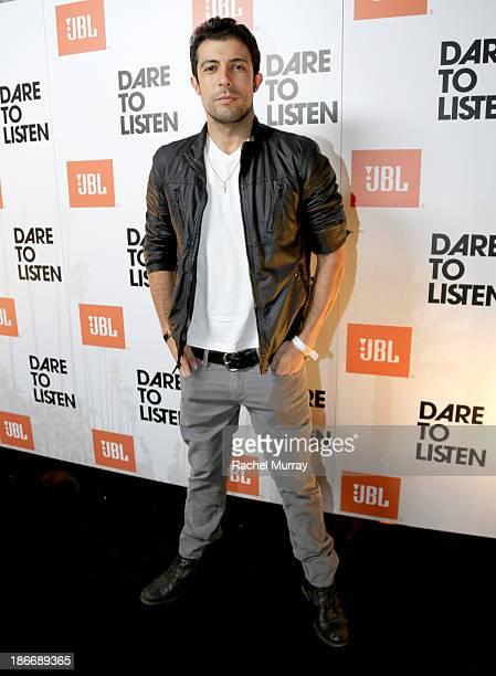 Actor Rodrigo Rojas attends JBL 'Dare to Listen' Synchros S700 Headphone Los Angeles launch with DJ Jermaine Dupri at W Hollywood on November 2 2013...