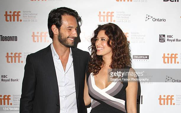 Actor Rodrigo Santoro and actress Angie Cepeda attend Heleno Premiere at TIFF Bell Lightbox during the 2011 Toronto International Film Festival on...