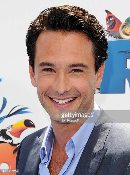 Actor Rodrigo Santoro arrives at the Los Angeles Premiere 'Rio' at Grauman's Chinese Theatre on April 10 2011 in Hollywood California