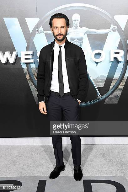 Actor Rodrigo Santoro attends the premiere of HBO's Westworld at TCL Chinese Theatre on September 28 2016 in Hollywood California