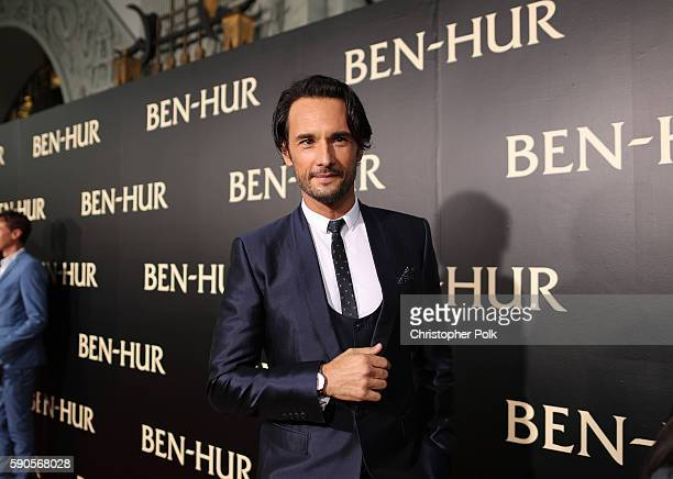 """Actor Rodrigo Santoro attends the LA Premiere of the Paramount Pictures and MetroGoldwynMayer Pictures title """"BenHur"""" at the TCL Chinese Theatre IMAX..."""