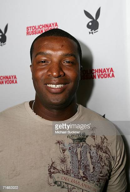 Actor Roger Cross attends Playboy and Stoli's celebration of the September cover appearance and pictorial for The Girls Next Door on August 15 2006...