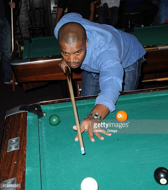 Actor Roger Cross participates in the 8th Annual Young Variety Pool Tournament To Help Southern California Children In Need held at Charles'...