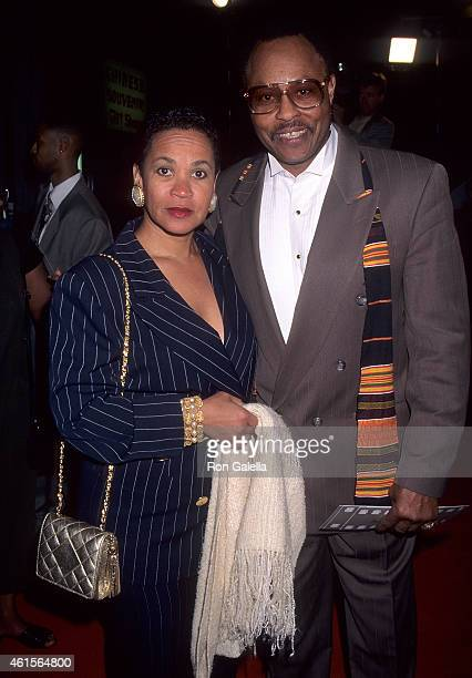 Actor Roger E Mosely and girlfriend Toni Laudermick attend A Thin Line Between Love and Hate Hollywood Premiere on April 2 1996 at the Mann's Chinese...